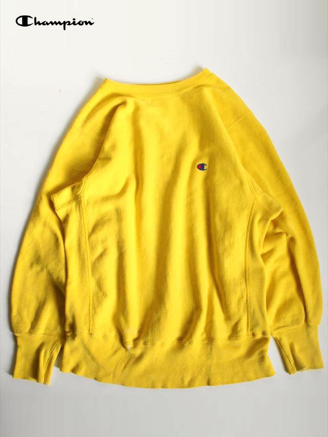 b2afaf335fafeb >>90's Champion 黄色無地リバースウィーブ スウェットシャツ Size:MEDIUM(着用感M)