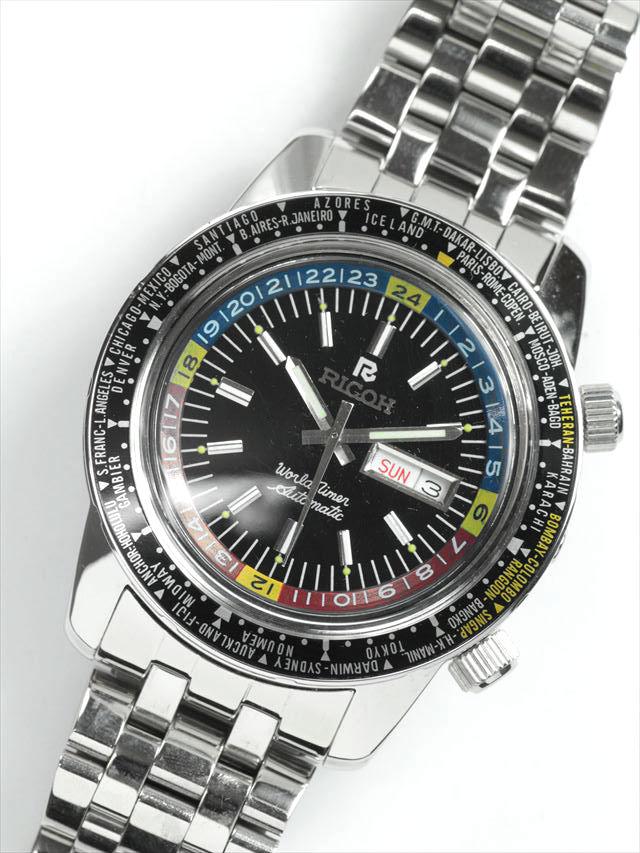 sale retailer 2d757 250d2 デッドストック 70's RICOH WORD TIMER ワールドタイムウォッチ ...